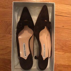 Manolo Blahnik brown heels
